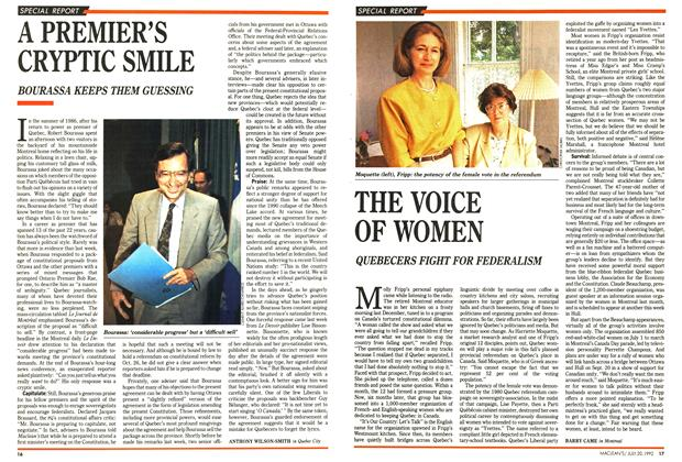 Article Preview: THE VOICE OF WOMEN, July 1992 | Maclean's