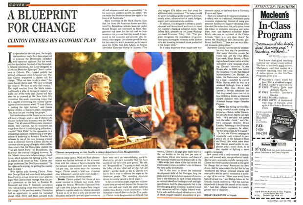 Article Preview: A BLUEPRINT FOR CHANGE, July 1992 | Maclean's