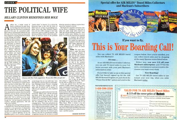 Article Preview: THE POLITICAL WIFE, July 1992 | Maclean's