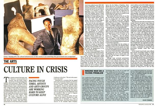Article Preview: CULTURE IN CRISIS, July 1992 | Maclean's