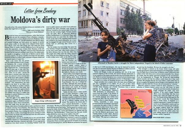Article Preview: Moldova's dirty war, July 1992 | Maclean's