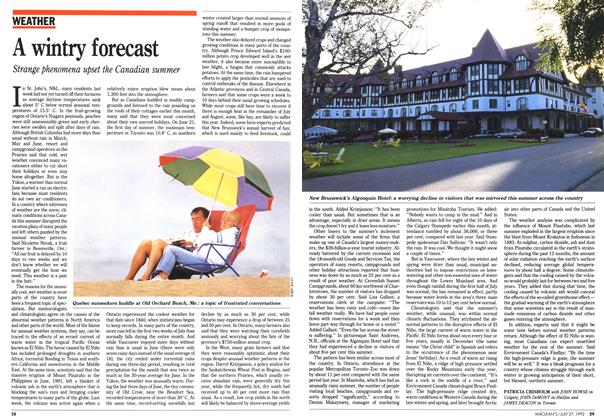 Article Preview: A wintry forecast, July 1992 | Maclean's