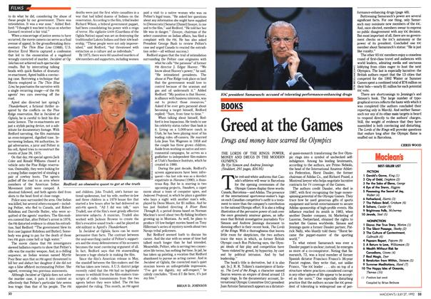 Article Preview: Greed at the Games, July 1992 | Maclean's