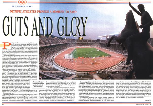 Article Preview: GUTS AND GLORY, July 1992 | Maclean's