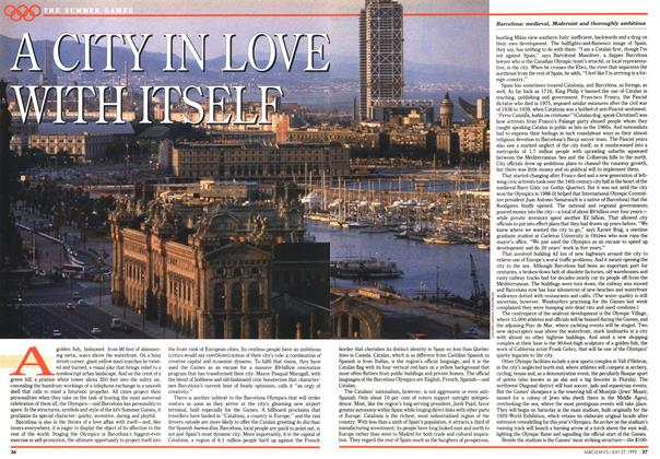 Article Preview: A CITY LOVE WITH ITSELF, July 1992 | Maclean's