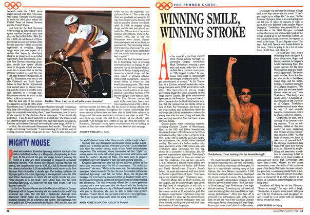 Article Preview: WINNING SMILE, WINNING STROKE, July 1992 | Maclean's