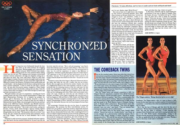 Article Preview: THE COMEBACK TWINS, July 1992 | Maclean's