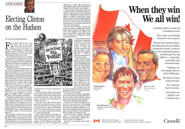 Article Preview: Electing Clinton on the Hudson, July 1992 | Maclean's
