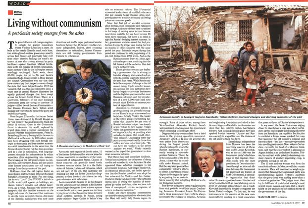 Article Preview: Living without communism, August 1992 | Maclean's