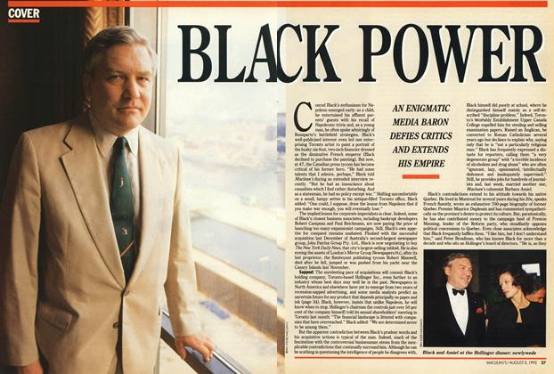 Article Preview: BLACK POWER, August 1992 | Maclean's