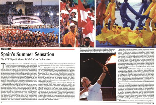 Article Preview: Spain's Summer Sensation, August 1992 | Maclean's