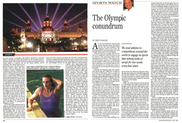 Article Preview: The Olympic conundrum, August 1992 | Maclean's