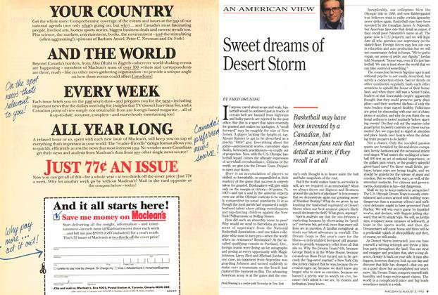 Article Preview: Sweet dreams of Desert Storm, August 1992 | Maclean's