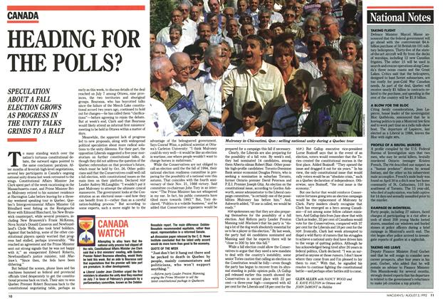 Article Preview: HEADING FOR THE POLLS?, August 1992 | Maclean's