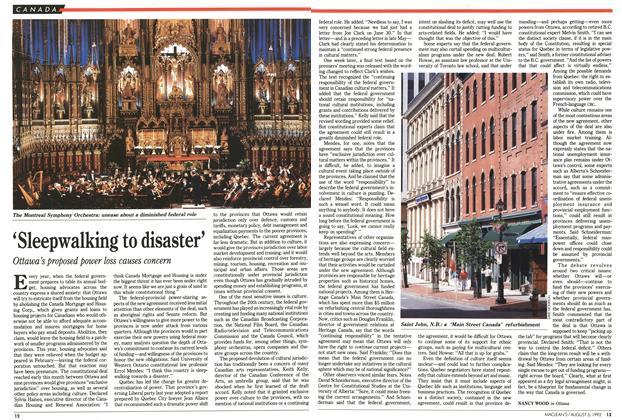 Article Preview: 'Sleepwalking to disaster', August 1992 | Maclean's
