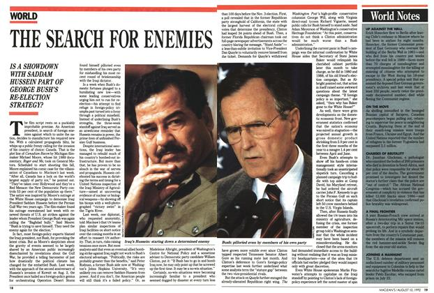 Article Preview: THE SEARCH FOR ENEMIES, August 1992 | Maclean's