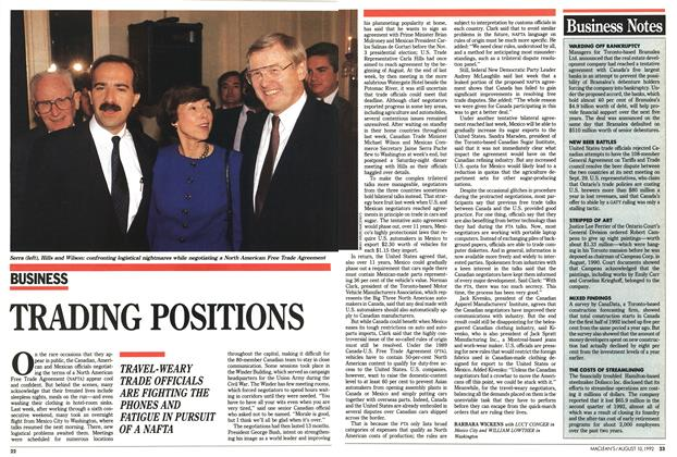 Article Preview: Business Notes, August 1992 | Maclean's