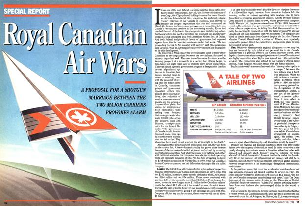 Article Preview: Royal Canadian Air Wars, August 1992 | Maclean's