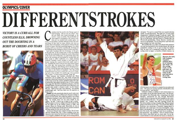 Article Preview: DIFFERENTSTROKES, August 1992 | Maclean's