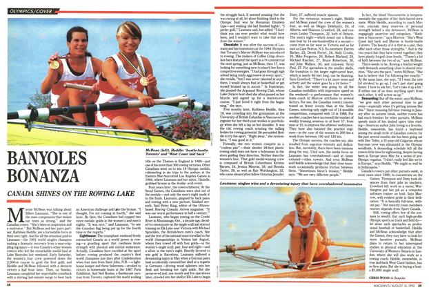 Article Preview: BANYOLES BONANZA, August 1992 | Maclean's