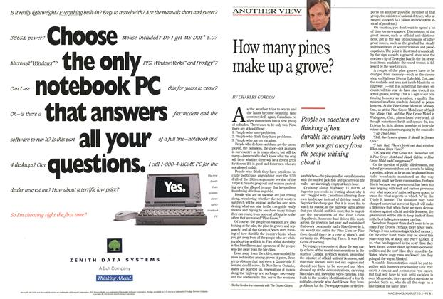 Article Preview: How many pines make up a grove?, August 1992 | Maclean's