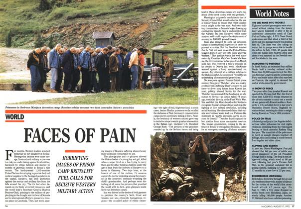 Article Preview: FACES OF PAIN, August 1992 | Maclean's