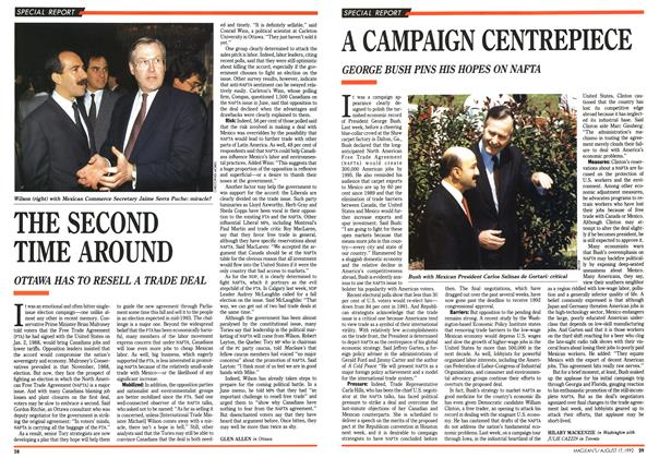 Article Preview: A CAMPAIGN CENTREPIECE, August 1992 | Maclean's