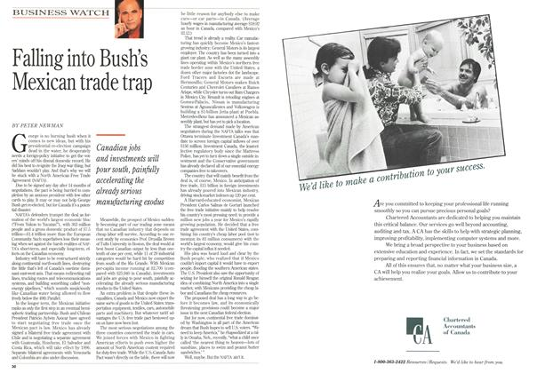 Article Preview: Falling into Bush's Mexican trade trap, August 1992 | Maclean's
