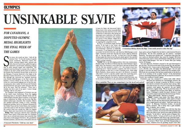 Article Preview: UNSINKABLE SYLVIE, August 1992 | Maclean's