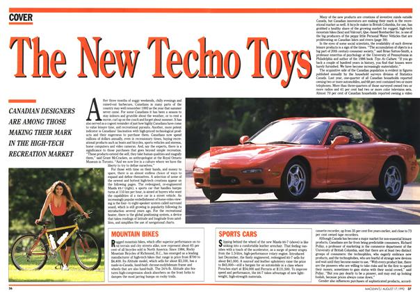 Article Preview: The New Techno Toys, August 1992 | Maclean's