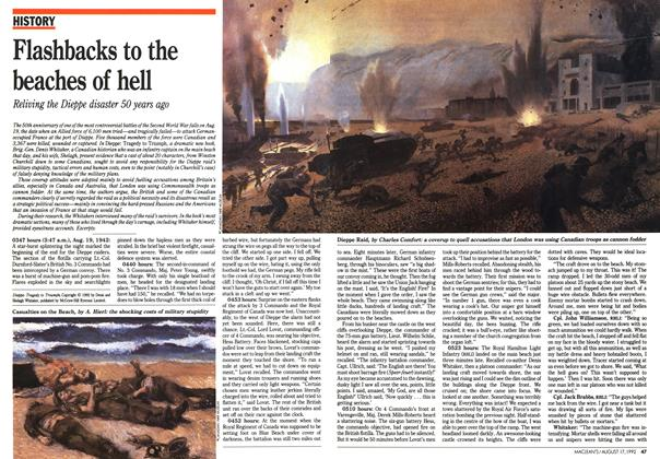Article Preview: Flashbacks to the beaches of hell, August 1992 | Maclean's