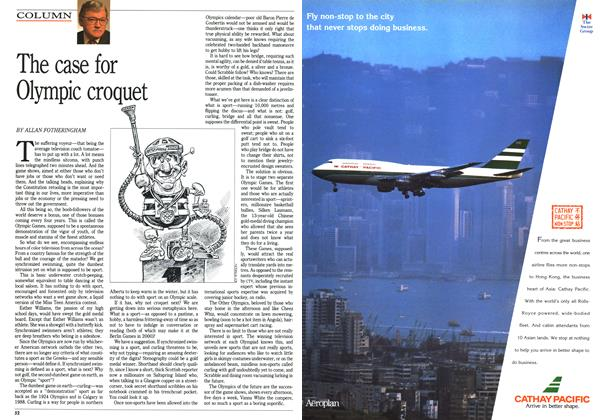 Article Preview: The case for Olympic croquet, August 1992 | Maclean's