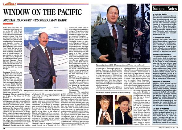 Article Preview: WINDOW ON THE PACIFIC, August 1992 | Maclean's