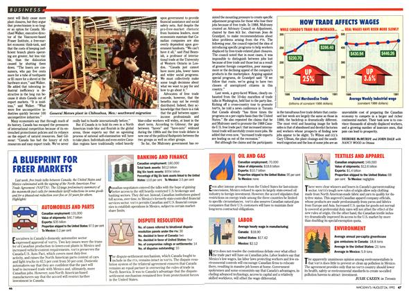 Article Preview: A BLUEPRINT FOR FREER MARKETS, August 1992 | Maclean's
