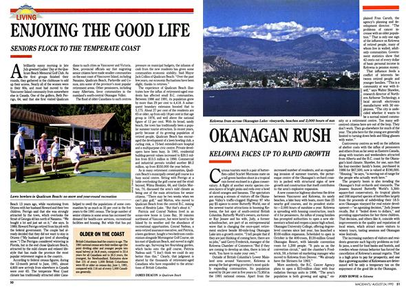 Article Preview: OKANAGAN RUSH, August 1992 | Maclean's