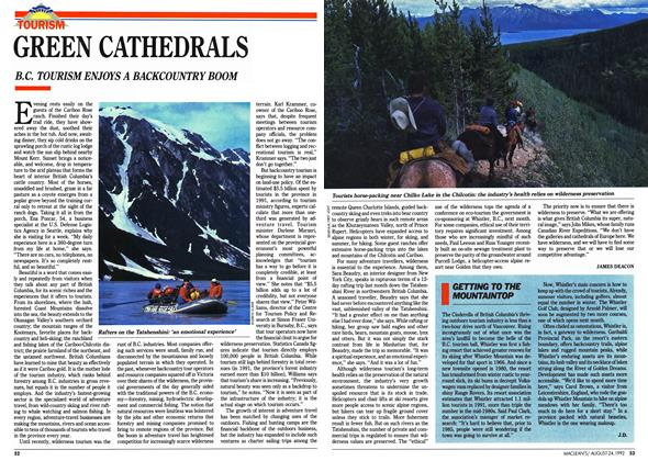 Article Preview: GREEN CATHEDRALS, August 1992 | Maclean's
