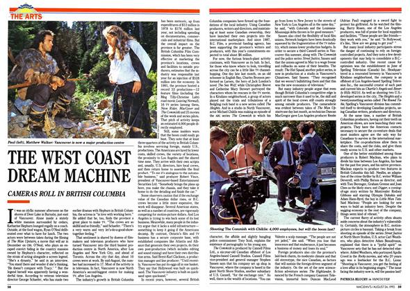 Article Preview: THE WEST COAST DREAM MACHINE, August 1992 | Maclean's