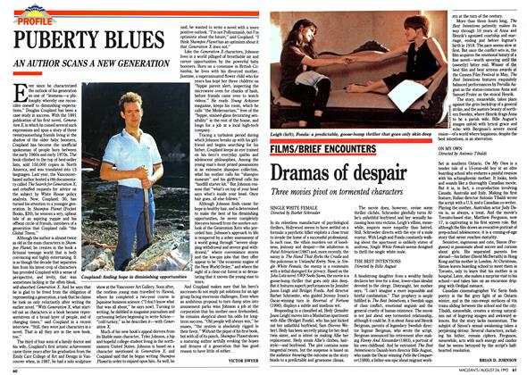 Article Preview: Dramas of despair, August 1992 | Maclean's