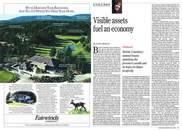 Article Preview: Visible assets fuel an economy, August 1992 | Maclean's