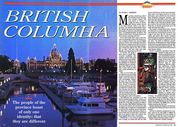 Article Preview: BRITISH COLUMBIA, August 1992 | Maclean's
