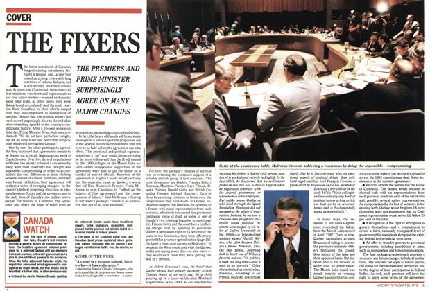 Article Preview: THE FIXERS, August 1992 | Maclean's