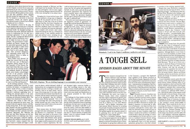 Article Preview: A TOUGH SELL, August 1992 | Maclean's