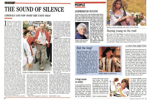 Article Preview: THE SOUND OF SILENCE, August 1992 | Maclean's