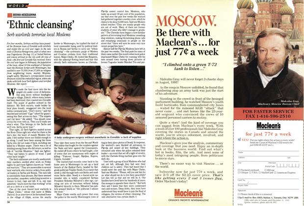 Article Preview: 'Ethnic cleansing', August 1992 | Maclean's