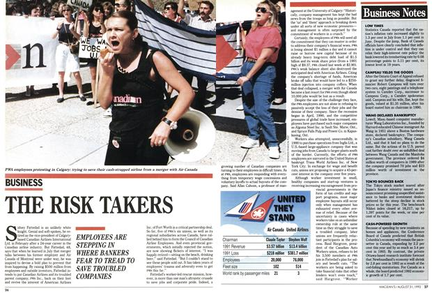 Article Preview: THE RISK TAKERS, August 1992 | Maclean's