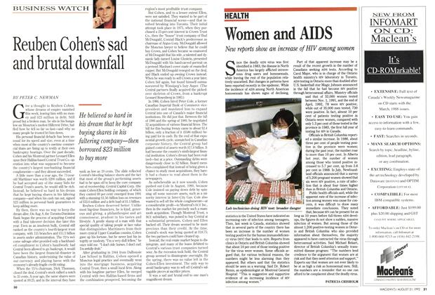 Article Preview: Women and AIDS, August 1992 | Maclean's