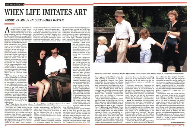 Article Preview: WHEN LIFE IMITATES ART, August 1992 | Maclean's