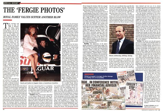 Article Preview: THE 'FERGIE PHOTOS', August 1992 | Maclean's