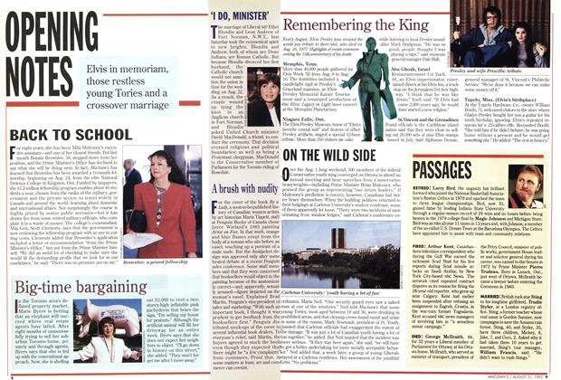 Article Preview: PASSAGES, August 1992 | Maclean's