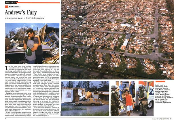 Article Preview: Andrew's Fury, September 1992 | Maclean's